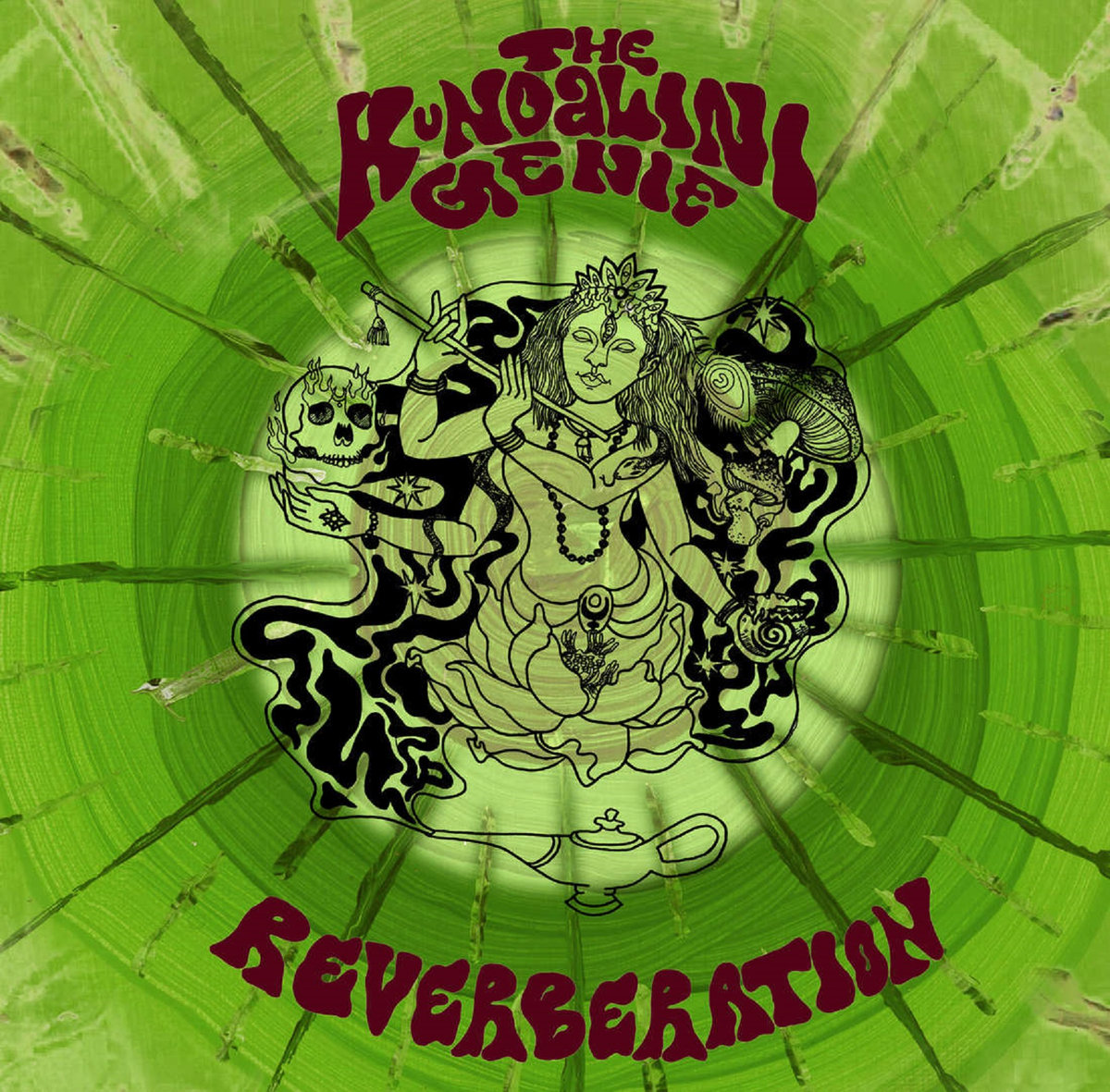 The Kundalini Genie On Spotify, Reverberation album review, Inside, Out! Single review, Moss Moth, Artwork, Mario D'Agostino, Carlton Studios, Jamie Telford